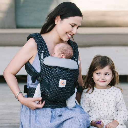 Ergobaby Adapt Newborn to Toddler Baby Carrier Geo Black Earthmother.ie